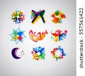 logo set. set of usable... | Shutterstock .eps vector #557561422