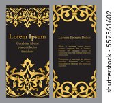vector banners in black and... | Shutterstock .eps vector #557561602