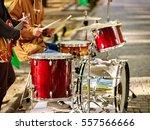festival music band. hands... | Shutterstock . vector #557566666