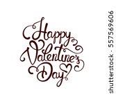 typographic valentines day... | Shutterstock .eps vector #557569606