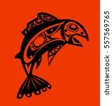 native fish vector   Shutterstock .eps vector #557569765