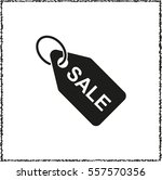 sale tag    black vector icon | Shutterstock .eps vector #557570356