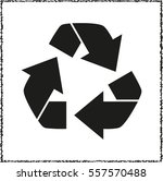 recycling    black vector icon | Shutterstock .eps vector #557570488