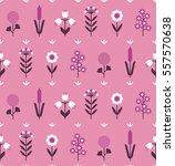 floral seamless geometric... | Shutterstock .eps vector #557570638