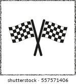 racing flag    black vector icon | Shutterstock .eps vector #557571406