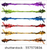 grungy textured and colored... | Shutterstock .eps vector #557573836