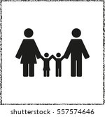 family    black vector icon | Shutterstock .eps vector #557574646