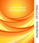 Abstract summer background with sunny waves - stock vector