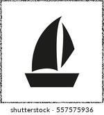sailfish boat    black vector... | Shutterstock .eps vector #557575936