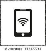 mobile wi fi    black vector... | Shutterstock .eps vector #557577766