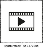 video    black vector icon   Shutterstock .eps vector #557579605