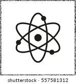 atom    black vector icon | Shutterstock .eps vector #557581312