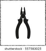 pliers    black vector icon
