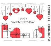 line banner for saint... | Shutterstock .eps vector #557586835