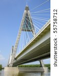 new freeway bridge on danube... | Shutterstock . vector #55758712