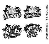 set of hawaii  california  goa... | Shutterstock .eps vector #557590282
