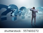 businessman in uncertainty... | Shutterstock . vector #557603272