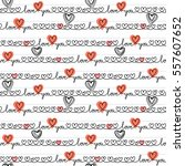 seamless pattern with hearts of ... | Shutterstock . vector #557607652