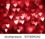 Stock photo blurred hearts valentines day background 557609242