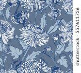 japanese chrysanthemum hand... | Shutterstock .eps vector #557611726