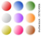 badges  starburst  sunburst ... | Shutterstock .eps vector #557614006