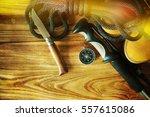 travel accessories | Shutterstock . vector #557615086