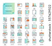 vector set of files and... | Shutterstock .eps vector #557629522