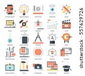 vector set of creative process... | Shutterstock .eps vector #557629726