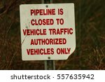 pipeline closed to vehicle... | Shutterstock . vector #557635942
