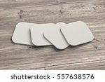 white coasters. isolated on... | Shutterstock . vector #557638576