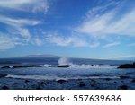 Black Sand Beach  Rocks  Blue...