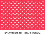 seamless polka dots with heart. | Shutterstock . vector #557640502