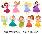 fairy princess adorable... | Shutterstock .eps vector #557648332