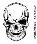 danger skull as a warning or...   Shutterstock .eps vector #55765069