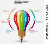 education infographic data... | Shutterstock .eps vector #557653366