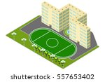 isometric multistory building... | Shutterstock .eps vector #557653402