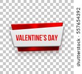 red valentines day abstract... | Shutterstock .eps vector #557654392