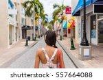 woman tourist walking in...   Shutterstock . vector #557664088