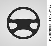 steering wheel icon isolated.... | Shutterstock .eps vector #557669416
