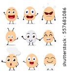 cute egg cartoon collection set | Shutterstock .eps vector #557681086