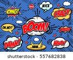 hand drawn of speech comic... | Shutterstock .eps vector #557682838