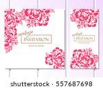 vintage delicate invitation... | Shutterstock .eps vector #557687698