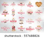 happy valentines day typography ... | Shutterstock .eps vector #557688826