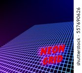 bright neon grid lines...   Shutterstock .eps vector #557690626