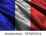 france national flag 3d... | Shutterstock . vector #557692516