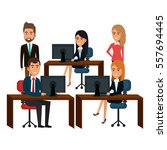 bussiness people working icon | Shutterstock .eps vector #557694445