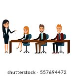 bussiness people working icon | Shutterstock .eps vector #557694472
