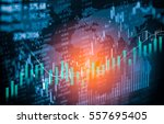stock market or forex trading... | Shutterstock . vector #557695405