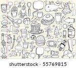 notebook doodle speech bubble... | Shutterstock .eps vector #55769815