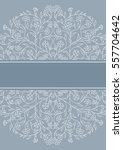 invitation card with floral... | Shutterstock .eps vector #557704642